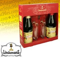 Lindemans Gift Set (2 bottles & 2 glasses)