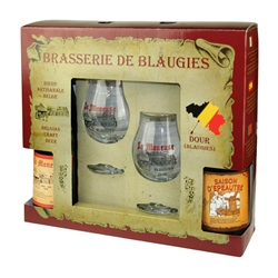 Blaugies Saison Gift Set #1 (2 ales & 2 glasses)