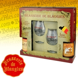 Blaugies Saison Gift Set #1 (2 ales & 2 glasses)