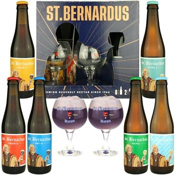 St. Bernardus Deluxe Tasting Set (6 ales & 2 glasses)