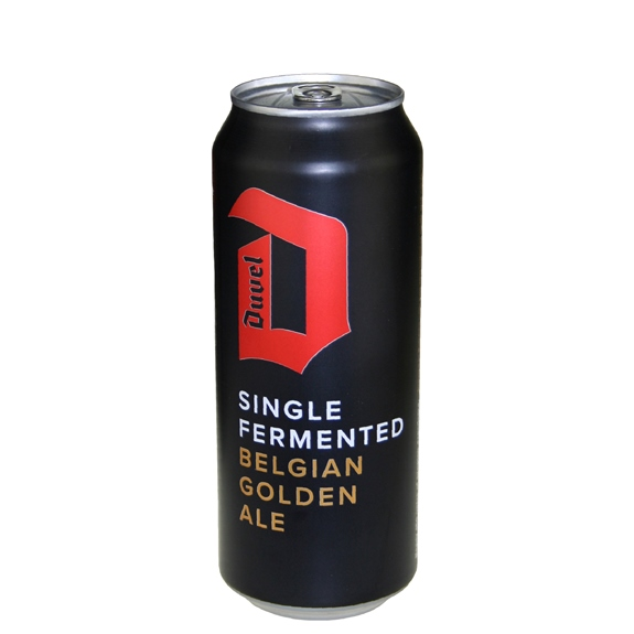 Duvel Single Fermented Belgian Golden Ale 16.9 oz can