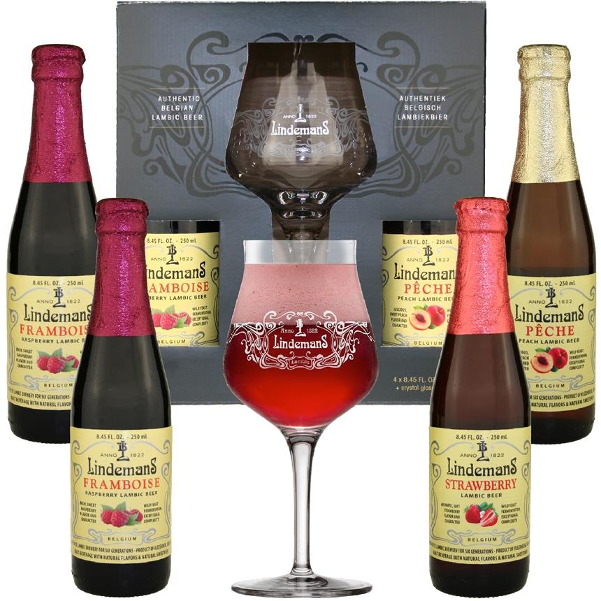 Lindemans Gift Set (4 bottles & 1 glass)