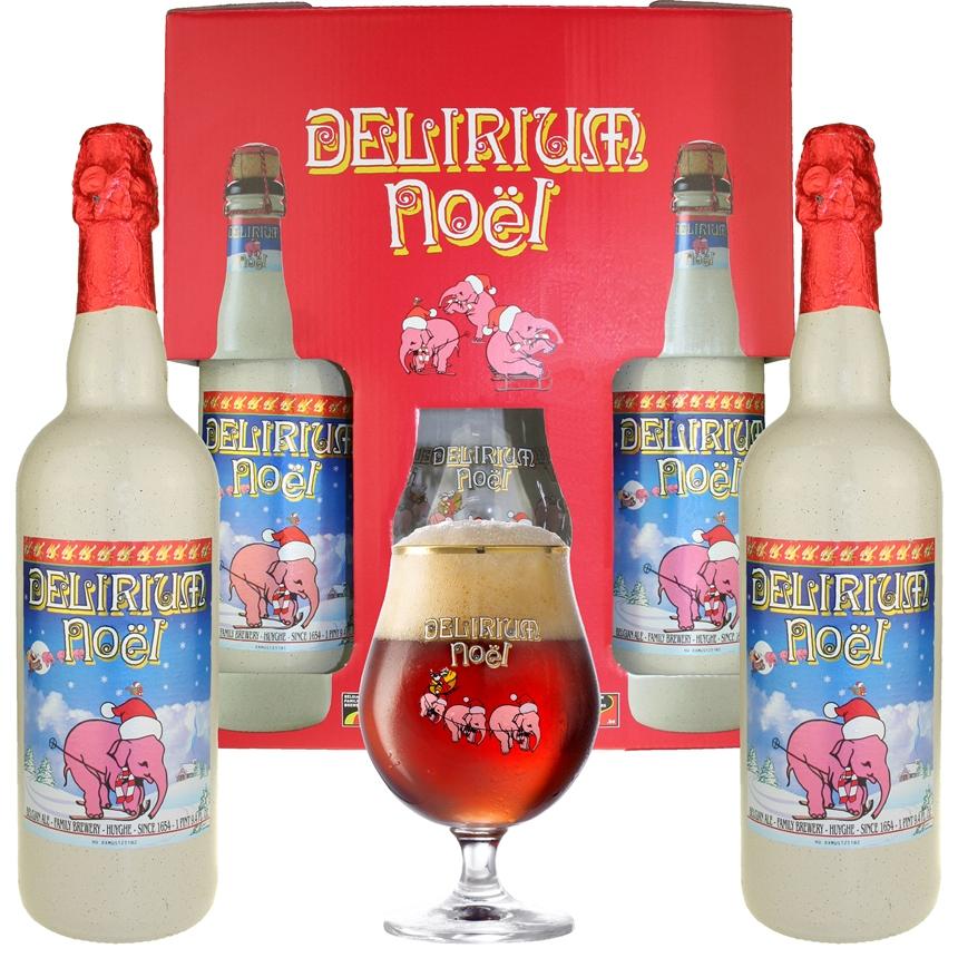 Delirium Noel Gift Set (2 large bottles & 1 glass)
