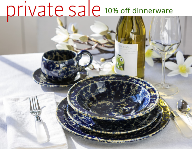 Bennington Potters Private Dinnerware 10% Off Sale