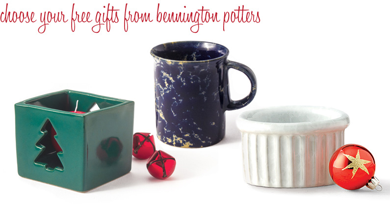 Choose Your Free Pottery Gifts from Bennington Potters
