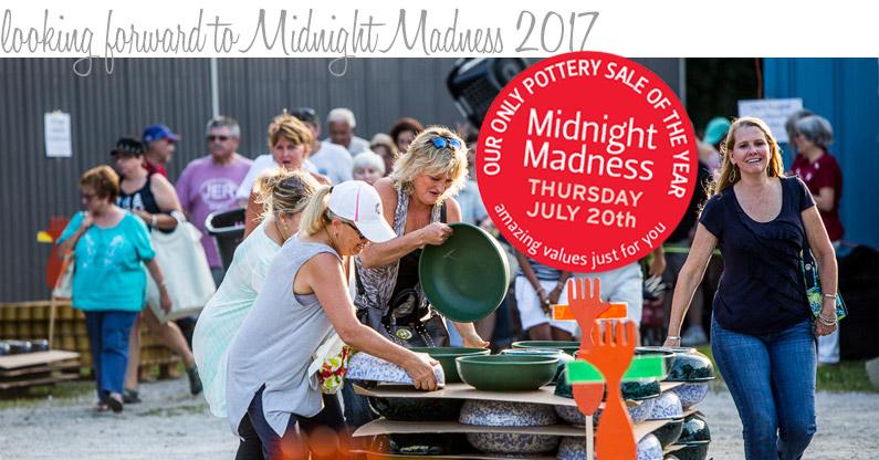 Midnight Madness Pottery Sale 2017