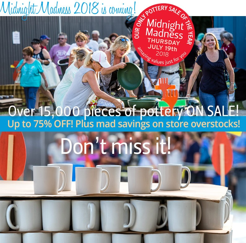 Midnight Madness Pottery Sale 2018