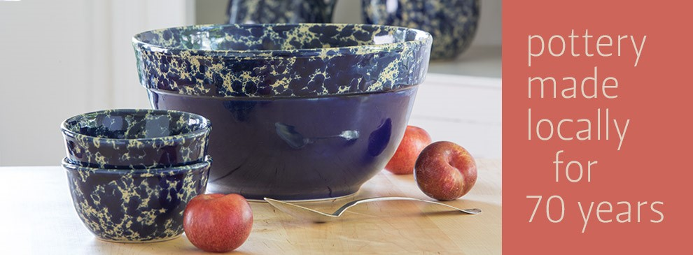 Perfect hosting serving and gift bowls handmade by our artisan potters in Bennington VT