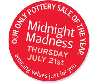 Midnight Madness Pottery Sale