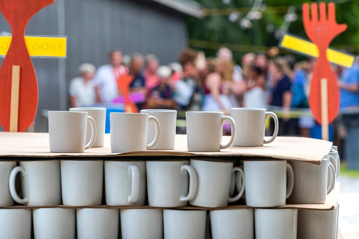 Seconds Stoneware Mugs, Handmade by Bennington Potters