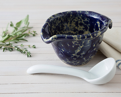 Blue Agate Pouring Bowlwith FREE China Ladle for limited time