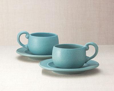 NewLine Small Cup & Saucer Set& FREE Harney & Sons Tea!
