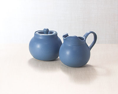 Sugar Bowl and Cream Pitcher Set