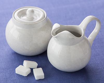 Sugar Bowl and Cream Pitcher Set