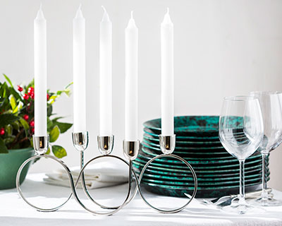 5-Light Nickel Chrome Candelabra