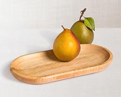 Vermont Maple 8-in Oval Wooden Tray from JK Adams