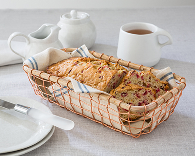 NEW! Copper Wire Bread Basket