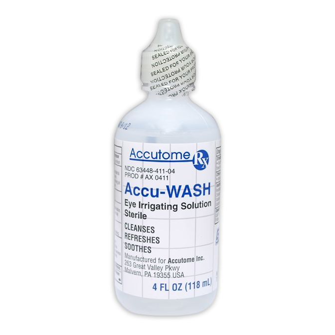Accu-WASH Eye Irrigating Solution 4 fl. oz. (Sterile)
