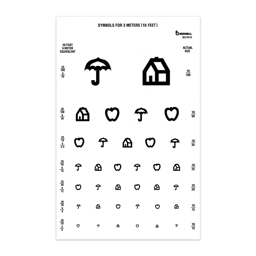 Symbol tests illiterate tests bernell corporation symbol 10ft test chart biocorpaavc Choice Image