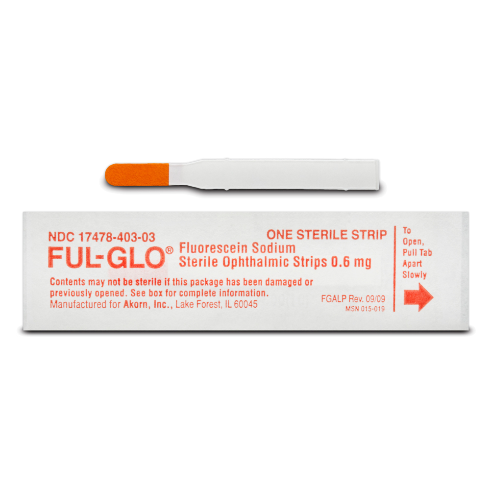 Ful-Glo® (0.6mg) Fluorescein Sodium Opthalmic Strips