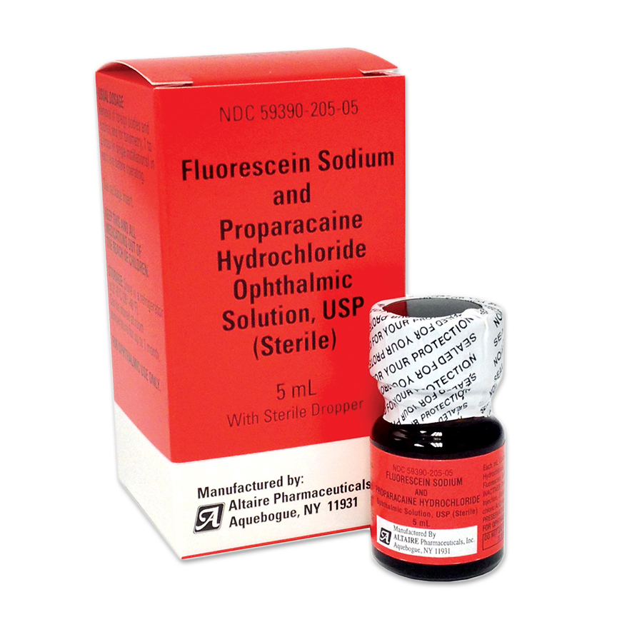 Fluorescein Sodium 0.25% and Proparacaine HCl 0.4% - 5mL Ophthalmic Solution