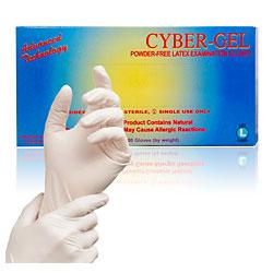 Cyber-Gel® Powder-Free Latex Exam Gloves (Box of 100)