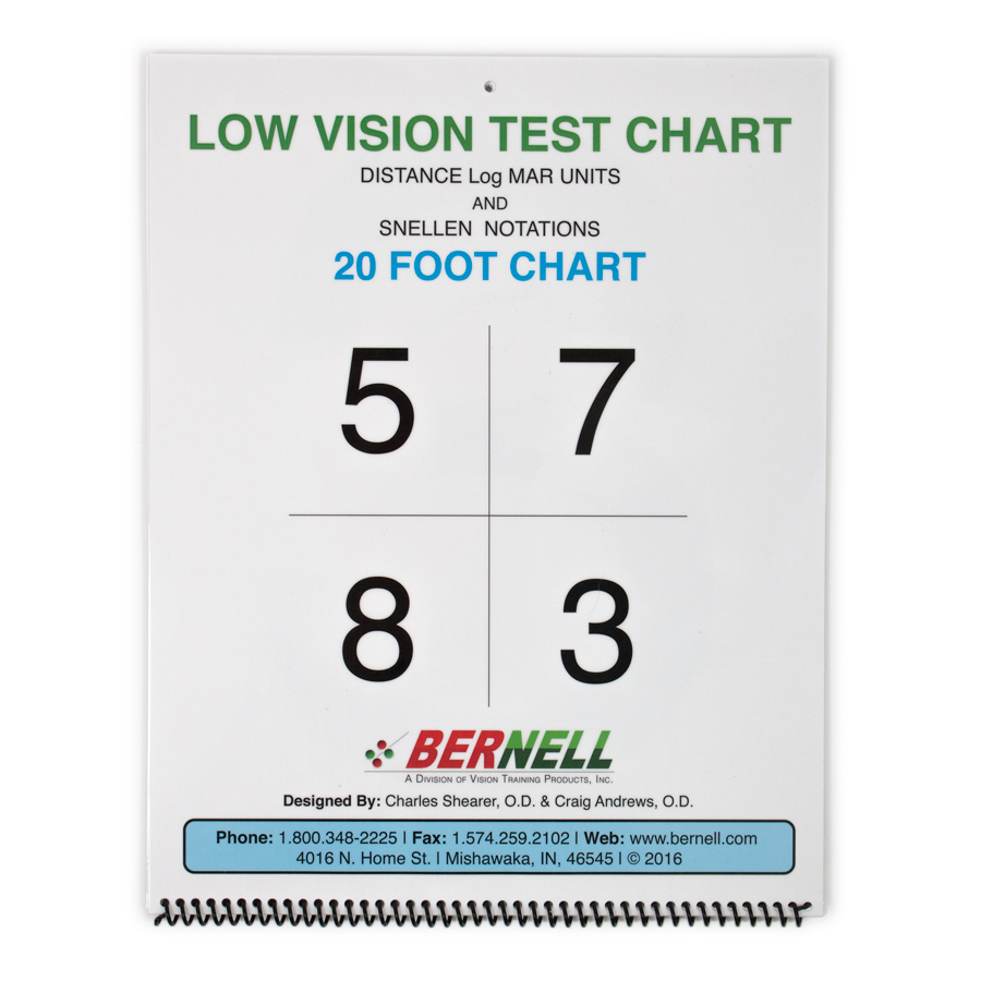 Low Vision Distance Acuity Chart