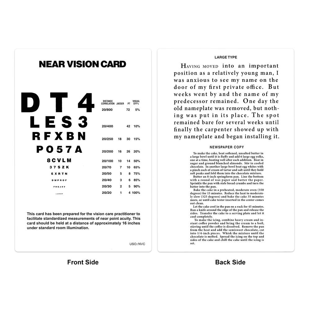 Near Vision Card