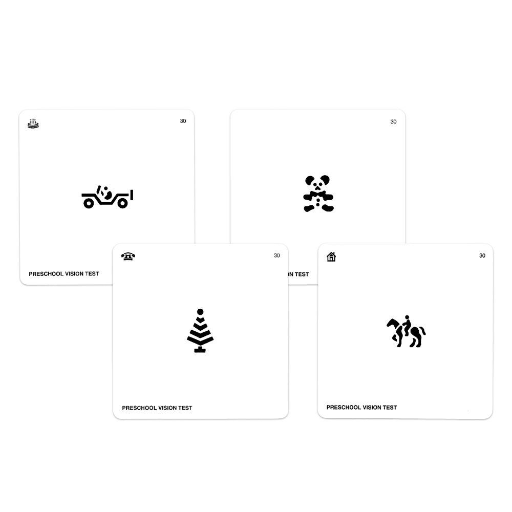 Preschool Vision Test Cards