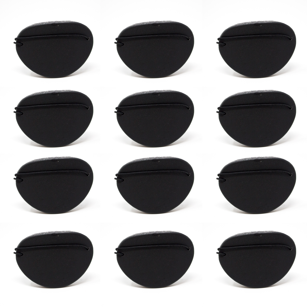 Eye Shields with Foam (Large) - Color: Black (Pkg. of 12)