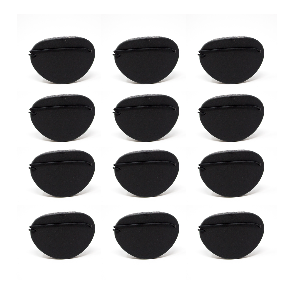 Eye Shields with Foam (Small) - Color: Black (Pkg. of 12)