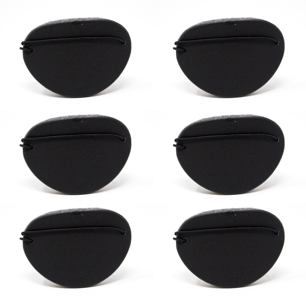 Eye Shields with Foam (Large) - Color: Black (Pkg. of 6)
