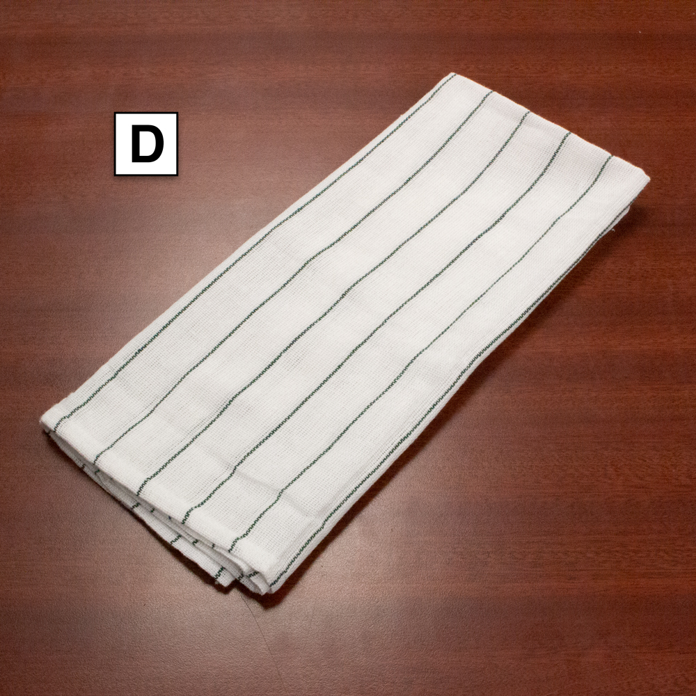 """Glass Cotton Towels with Green Stripes (16"""" x  24"""") Sold by the Dozen"""
