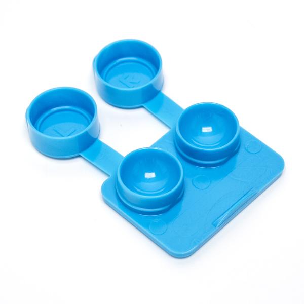(50) Jumbo Contact Lens Cases- 10mm Depth (Bright Blue)