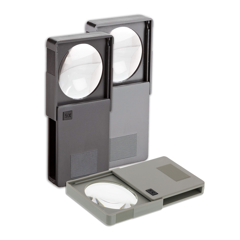 Pocket Magnifier - Available in 3 sizes or Set - Pocket Magnifier Kit (3) 3x, (4) 4x, & (3) 5x Magnifiers