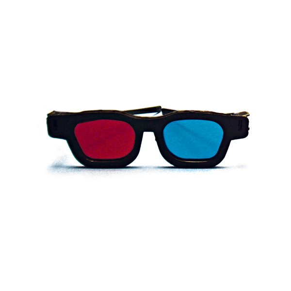 Original Bernell Model - Red/Blue Computer Goggles (Single Pair)