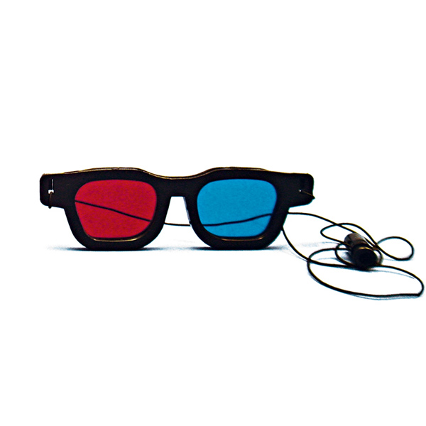 Original Bernell Model - Red/Blue Computer Goggles with Elastic (Single Pair)