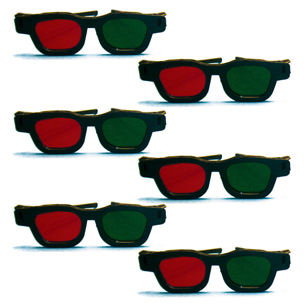 Original Bernell Model - Red/Green Goggles (Pkg. of 6)