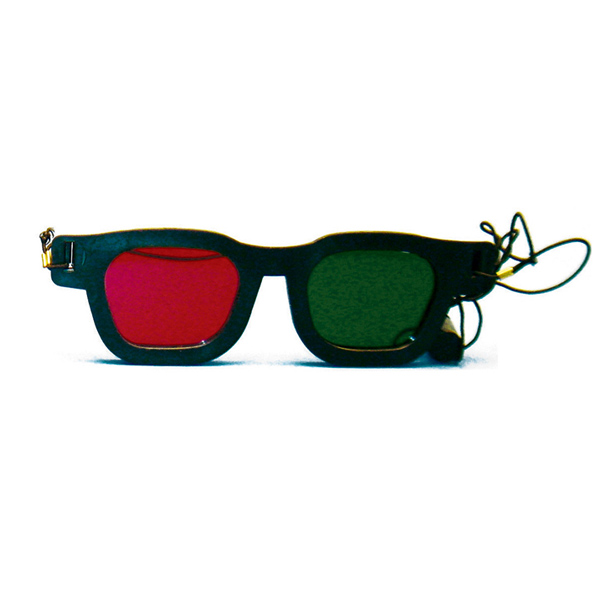 Original Bernell Model - Red/Green Goggles with Elastic (Single Pair)