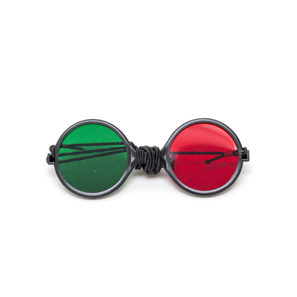 Child Size - Red/Green Reversible Goggles with Elastic (Single Pair)