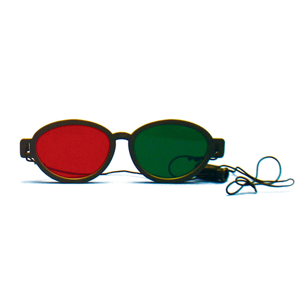 Modern Model - Red/Green Goggles with Elastic (Lenses Not Glued) - Single