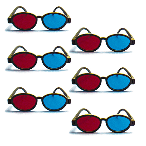 Modern Model - Red/Blue Computer Goggles (Pkg. of 6)