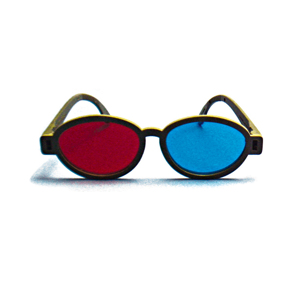 Modern Model - Red/Blue Computer Goggles (Lenses Not Glued) - Single