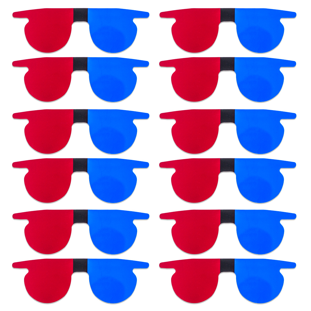 Red/Blue Flat SlipIns (Pkg of 12) - Packed in Individual Bags