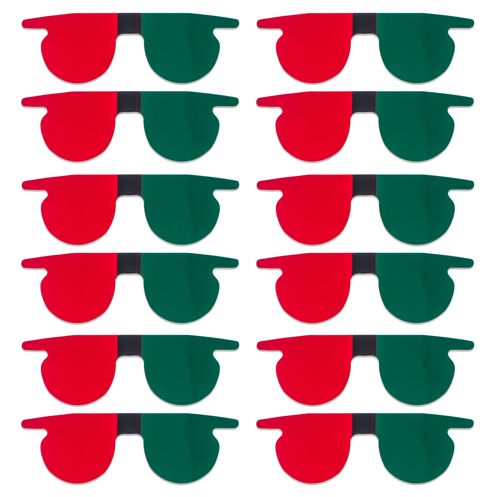 Red/Green Flat SlipIns (Pkg of 12) - Packed in Individual Bags