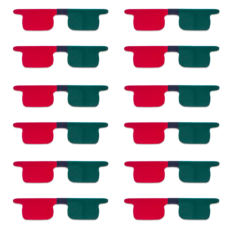 Red/Green Flat Children's Size SlipIns (Pkg of 12) - Packed in Individual Bags