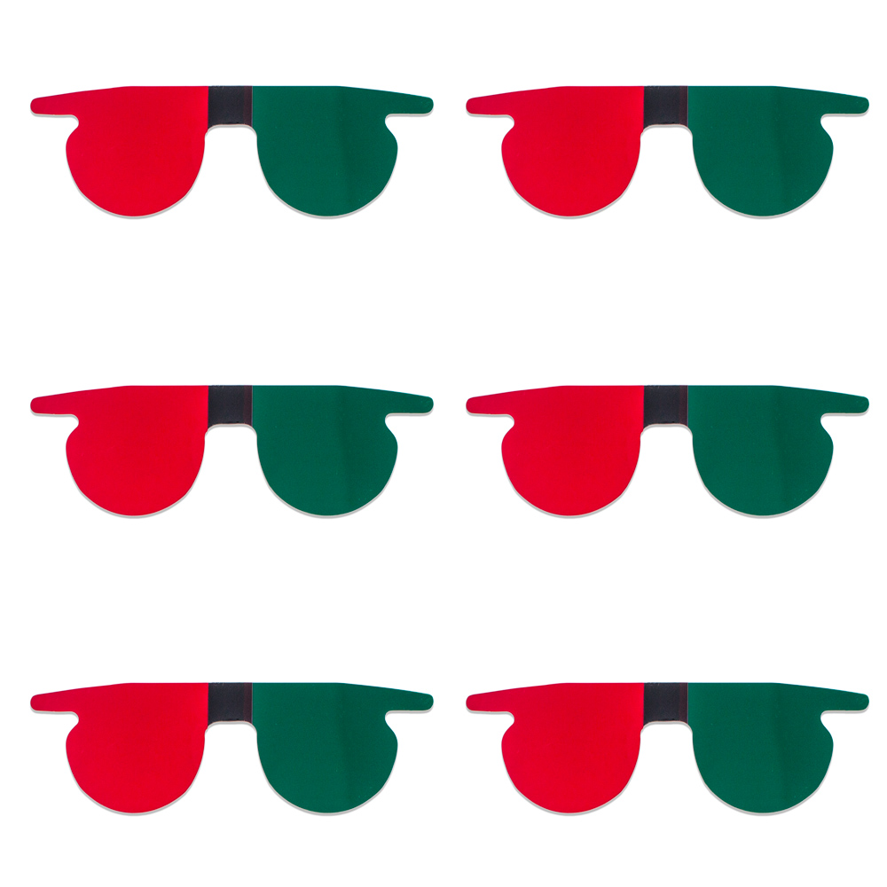 Red/Green Flat SlipIns (Pkg of 6) - Packed in Individual Bags