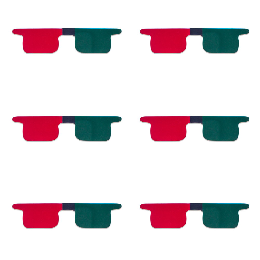 Red/Green Flat Children's Size SlipIns (Pkg of 6) - Packed in Individual Bags