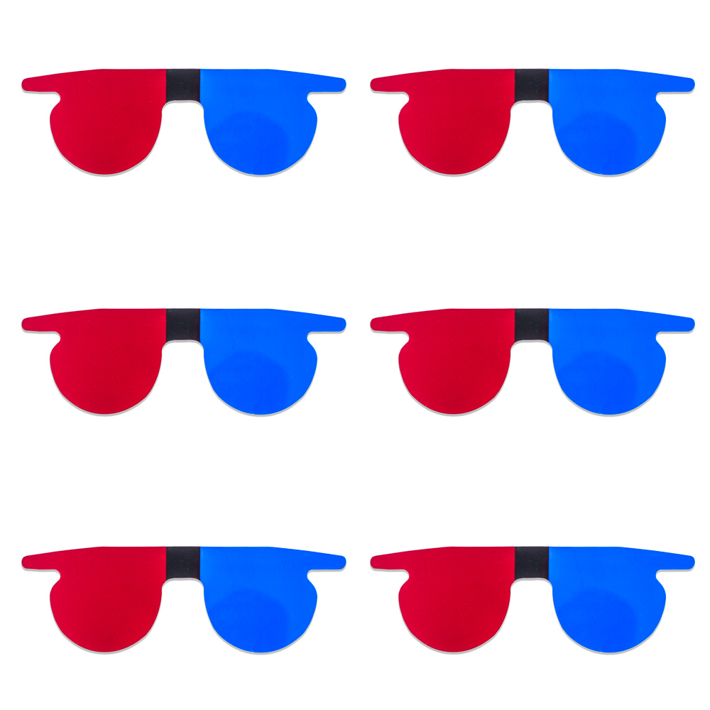 Red/Blue Flat SlipIns (Pkg of 6) - Packed in Individual Bags