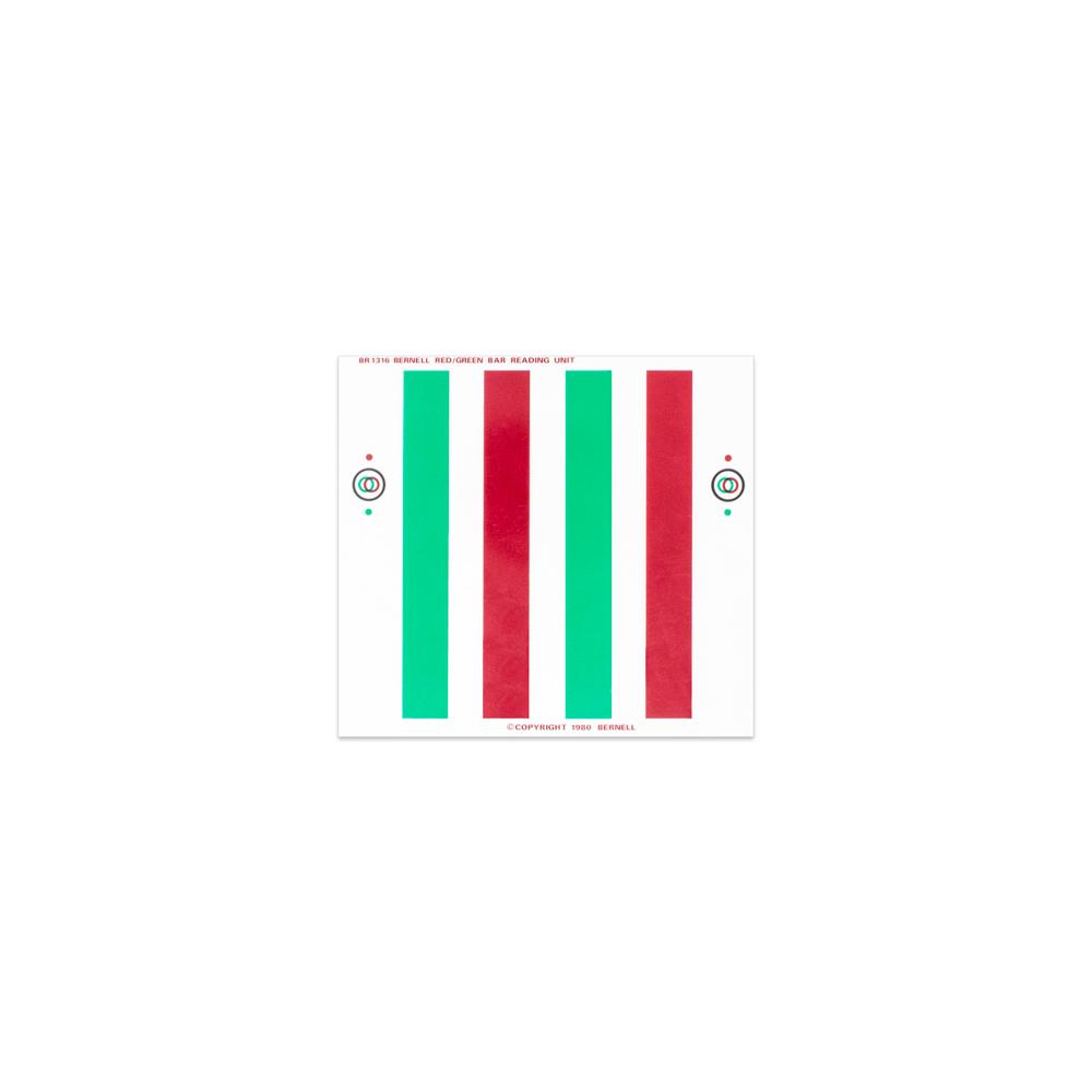 "Red/Green - 4-1/2"" x 4-1/8"" | 4 Bars | 1/2"" Bar Width"